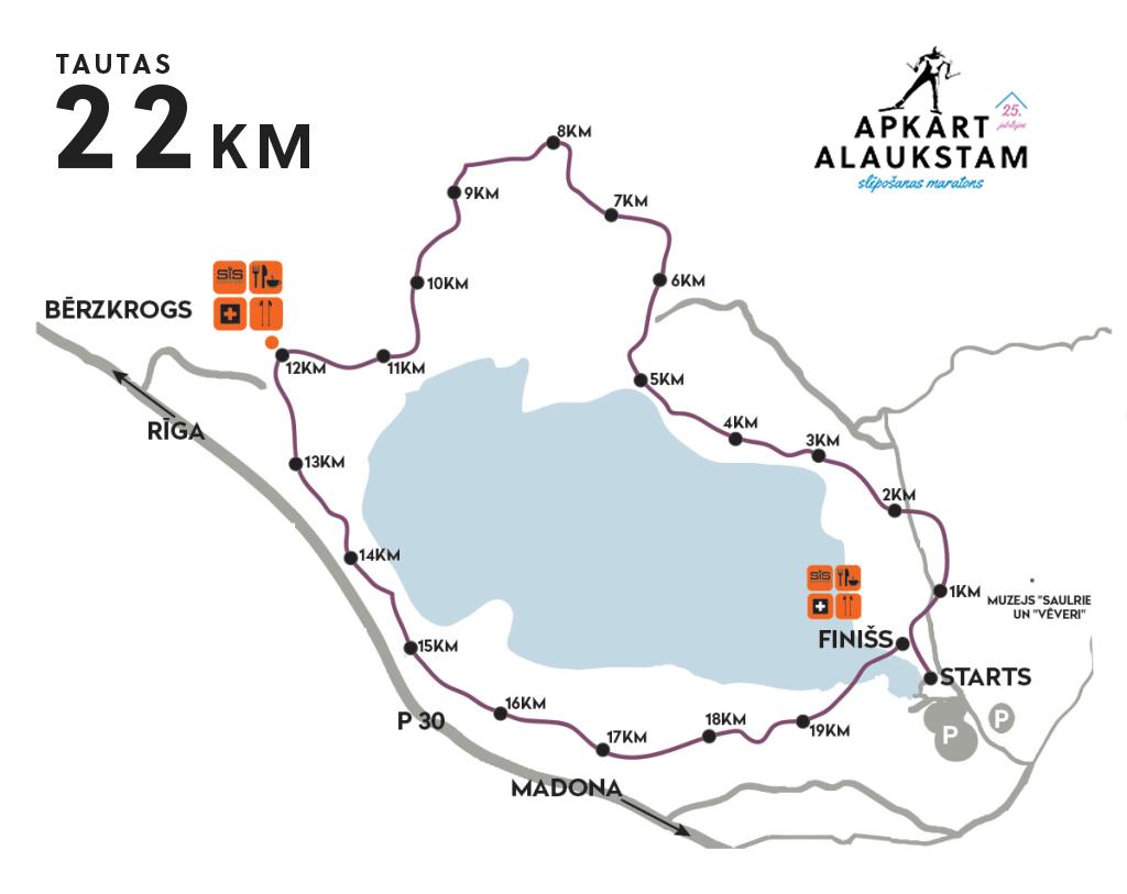 Apkārt Alaukstam Tautas distances karte