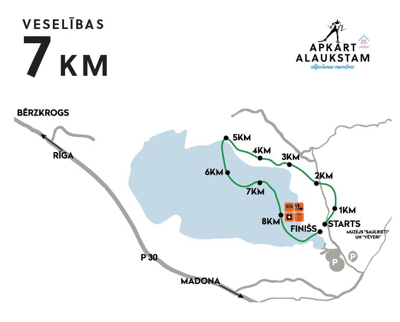 Apkārt Alaukstam 2017 maratona 7 km karte